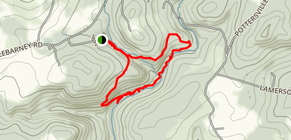 Hacklebarney Loop Trail Map