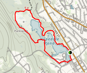 Hopedale Parklands - Red Trail Map