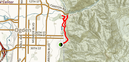 Bonneville Shoreline Trail (Mt Ogden Section) Map