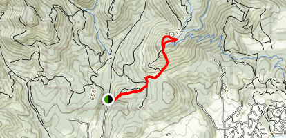 Oak Creek to Dimple Hill Map