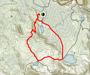 Woods, Winnemucca, and Round Top Lakes Map