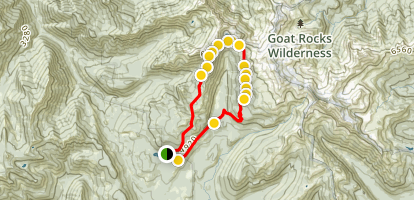 Snowgrass Flats and Goat Lake Loop Trail Map