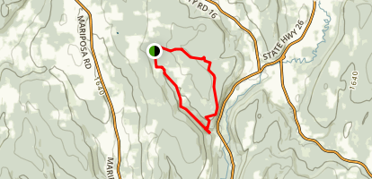 Bucks Brook State Forest - loop Map