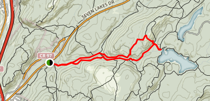 Diamond Mountain Trail Map