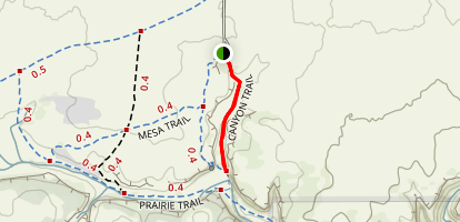 Vogel Canyon Trail Map