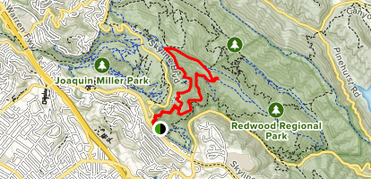 Dunn, Graham and West Ridge Trail Loop Map