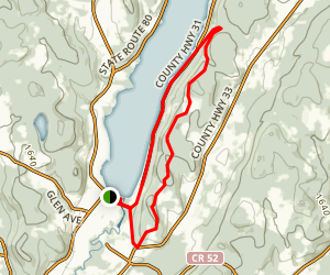 Cooper Sundial to Vanyahres Trail Map