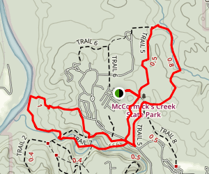 McCormicks Creek Trail Map