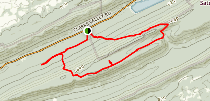 AT to Watertank Trail Clarks Valley Route 325  Map