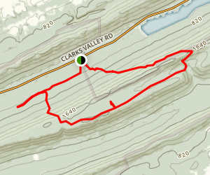 Water Tank and Rattling Run Trail Loop via Appalachian Trail  Map