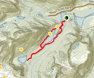 Grinnell Lake Trail Map