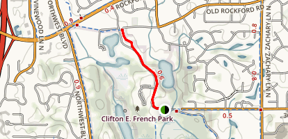 Clifton E. French Regional Park Trail Map