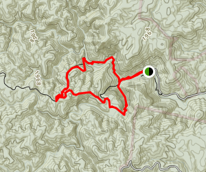 High Shoals Waterfall and H.Q. Loop Trail Map