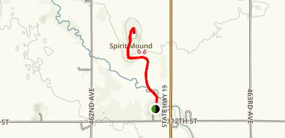 Spirit Mound Historic Prairie Trail Map