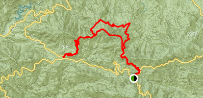 Redbox Canyon to Strawberry Potero Map