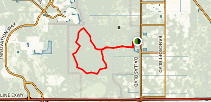 Hal Scott Preserve: Yellow Blaze Trail Map