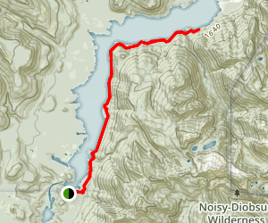 Baker Lake Trail Map