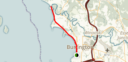 Burlington Waterfront Bikeway Map