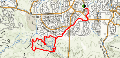West Big Dry Creek Trail Map