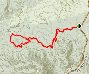 Colorado Trail - Top of the World Map
