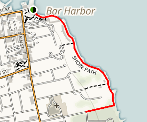 Bar Harbor Shore Path Map