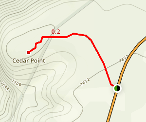 Cedar Point Nature Trail Map