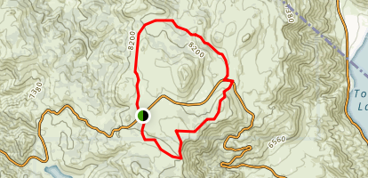 Leviathan Peak Loop Map