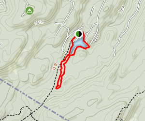 Cascade Lake Loop (Red Trail) Map