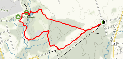 Heber Down Conservation Area Trail Map