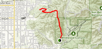 High Up Fire Road Trail Map