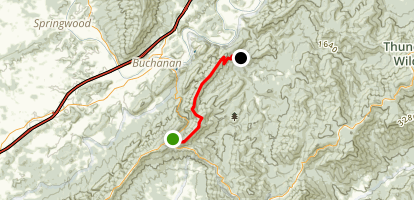 Appalachian Trail: Cove Mountain to Jennings Creek Map