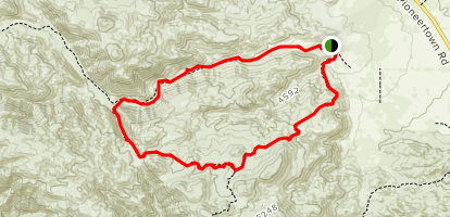 Indian Trail Loop at Pipe's Canyon Map