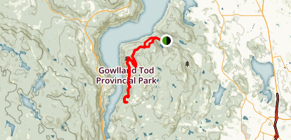 Gowlland Tod Trail Map