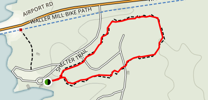 Shelter Trail At Waller Mill Park Map