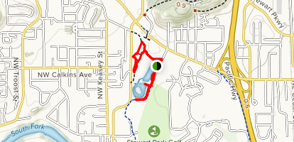 Roseburg Bicycle and Pedestrian System Map