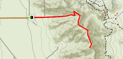 Casa Grande Mountain Radio Tower Trail Map