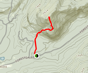 Catamount Mountain Trail Map