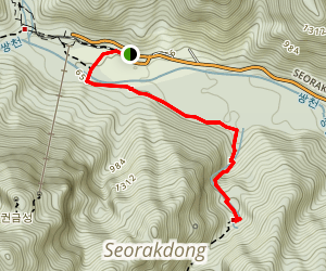 Biryong Falls - Seoraksan National Park Map