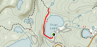 Trial Lake Trail Map