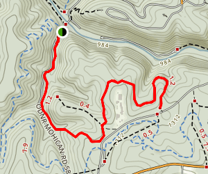 Mohican Hog Hollow Trail (Covered Bridge to Fire Tower) Map