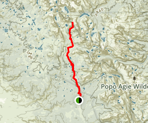Hailey Pass Trail Map