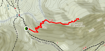 Mount Catherine (#1348) Map