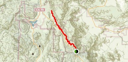 Laguna Mountain Ridge via the PCT Map