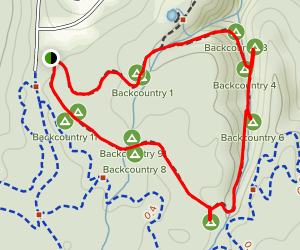 Two-Mile Backcountry Loop Trail Map