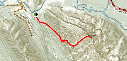 Mount Rundle Summit Trail Map