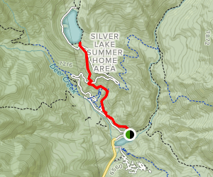 Silver Flat Lake Trail Map
