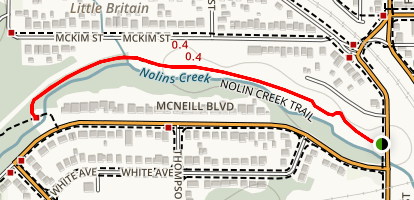 Nolin Creek Walking Trail Map