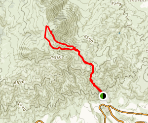 Peavine Peak Trail Map