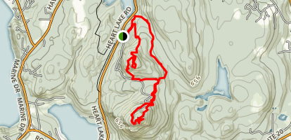Sugarloaf Mountain and Mount Eerie Loop Trail Map