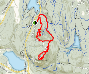 Sugarloaf Mountain and Mount Erie Loop Trail Map